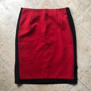 NWOT Red and black skirt
